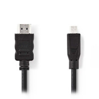 Nedis Καλώδιο Micro HDMI αρσ. - HDMI αρσ. 2.00m [CVGP34700BK20]