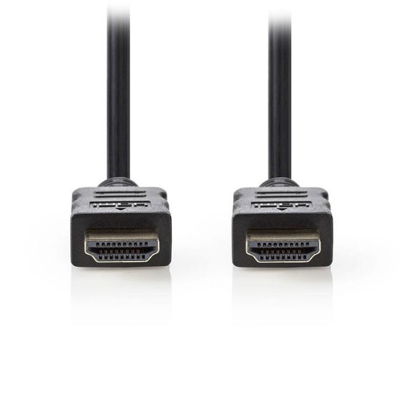 Nedis HDMI καλώδιο 5m με επίχρυσες επαφές [VCGT34000BK50]