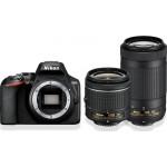 Nikon D3500 Διπλό Kit 18-55mm AF-P VR + 70-300mm AF-P VR Black + Δώρο Θήκη & Τρίποδο [VBA550K005]
