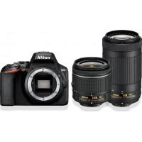Nikon D3500 Διπλό Kit 18-5mm AF-P VR + 70-300mm AF-P VR Black + Δώρο Τσάντα [VBA550K005]  (Με 100,00€ Cashback)