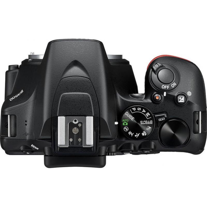 Nikon D3500 Διπλό Kit 18-5mm AF-P VR + 70-300mm AF-P VR Black