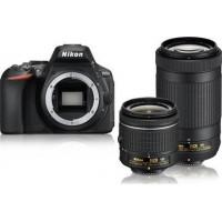 Nikon D5600 Διπλό Kit 18-55mm AF-P VR + 70-300mm AF-P VR Black [VBA500K004]