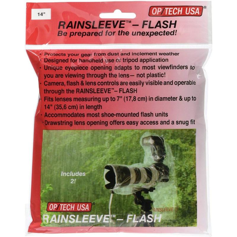 1x2 OP Tech Rain-Sleeve for SLR with Flash