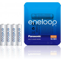 Panasonic Eneloop Rechargeable AAA Batteries - Sliding Pack 750mAh x 4 [BK-4MCCE/4LE]