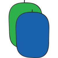 Queenie Collapsible Background 100x150cm (Green & Blue)
