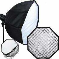 Queenie Octagon Umbrella Softbox 120cm With Grid - Bowens Mount