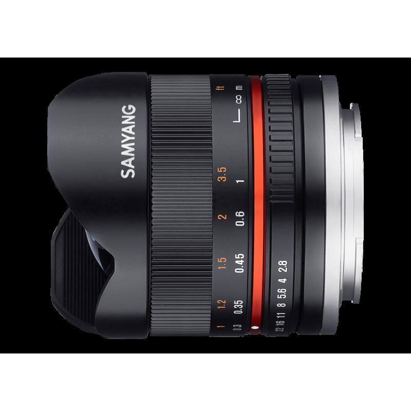 Samyang 8mm f/2.8 UMC Fisheye II for Fuji X -Black [F1220310101]