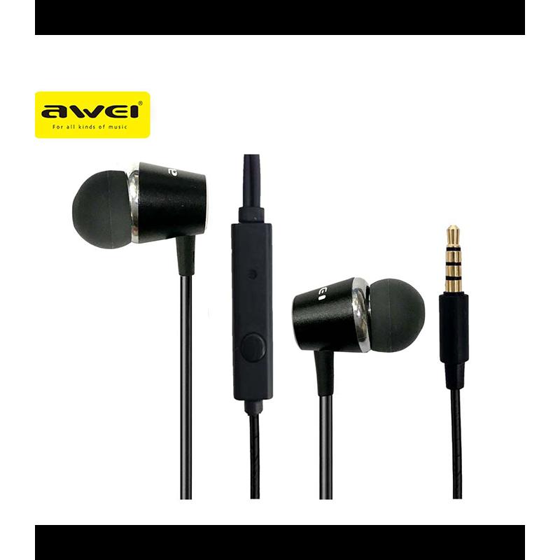 Awei PC-2 Ακουστικά-ψείρες Hands-free - Black
