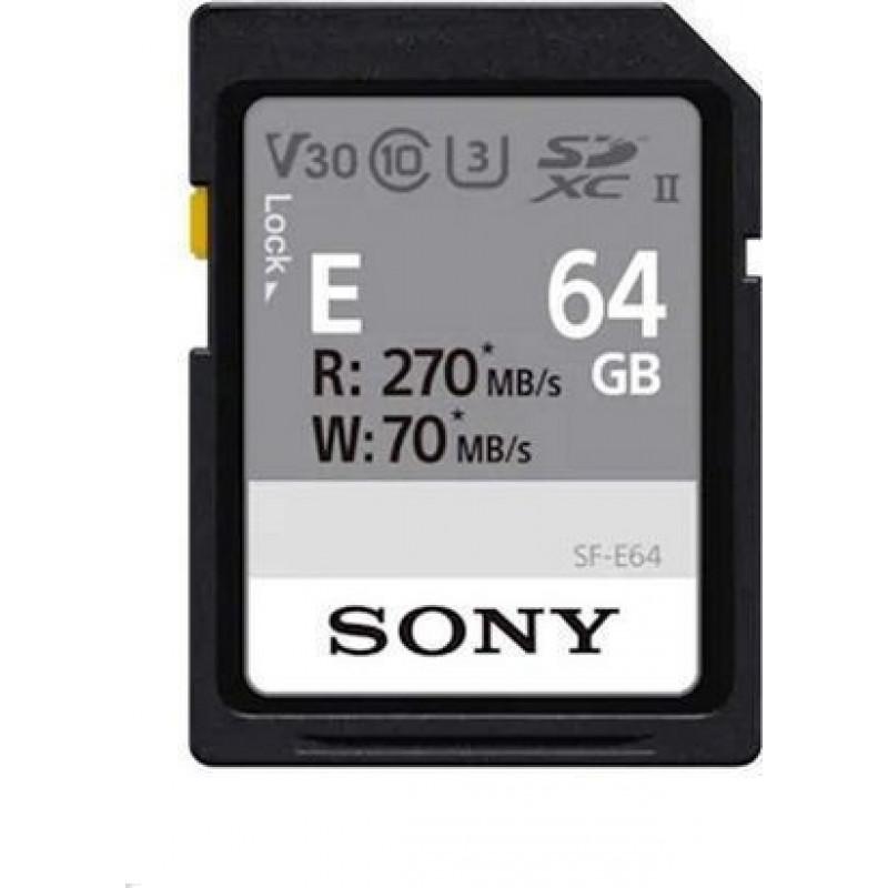 Sony Κάρτα μνήμης 64GB SD UHS-II σειράς SF-E [SF-E64]