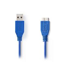 Nedis Καλώδιo USB 3.0 A αρσ. - USB micro B αρσ. 1m. [CCGP61500BU10]