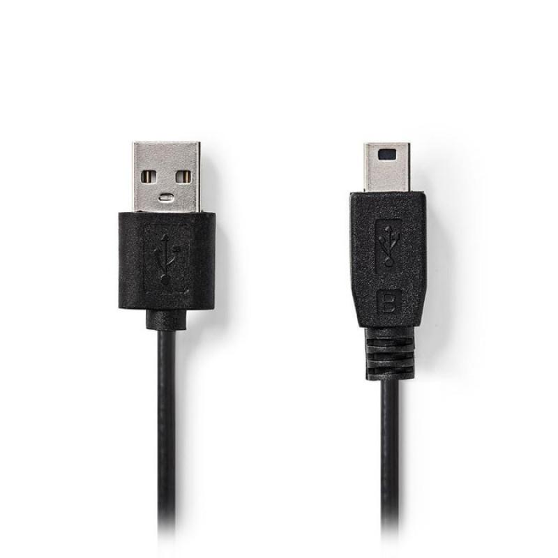 Nedis Mini 5-pin USB καλώδιο 1,00m [CCGT60300BK10]