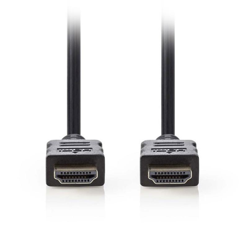 Nedis HDMI καλώδιο 0,50m [CVGP34000BK05]