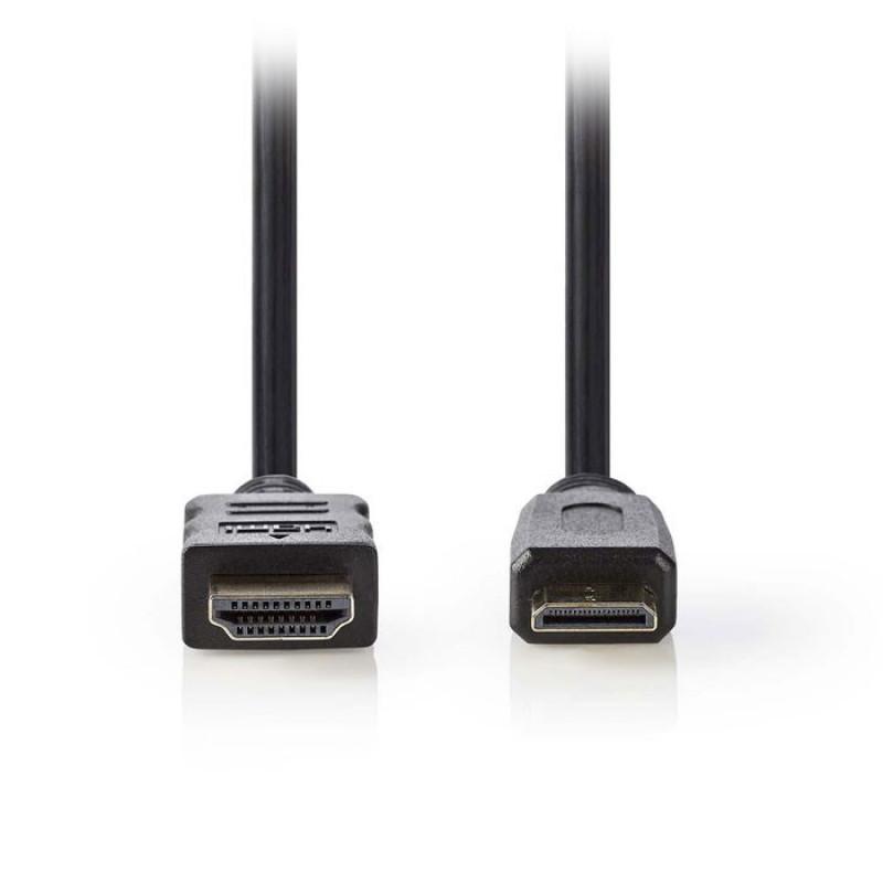 Nedis Καλώδιο High speed HDMI mini αρσ. - HDMI αρσ. 1.5m. [CVGP34500BK15]