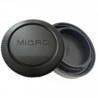 Accpro σετ καπάκια πίσω φακού και σώματος για Micro 4/3