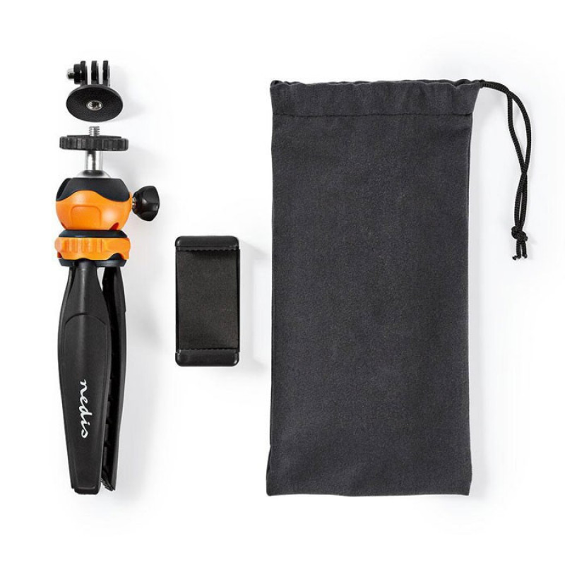 Nedis ACMT10BK Mini Επιτραπέζιος Τρίποδας με Σφαιρική κεφαλή για Smartphones και action κάμερα