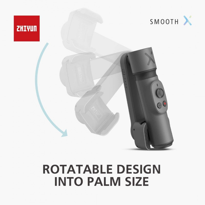 Zhiyun Smooth-X Smartphone Gimbal (Gray) - Black