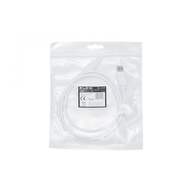 BLOW Καλώδιο USB 3.0 A σε Type-C USB 1m - Λευκό [66-103]