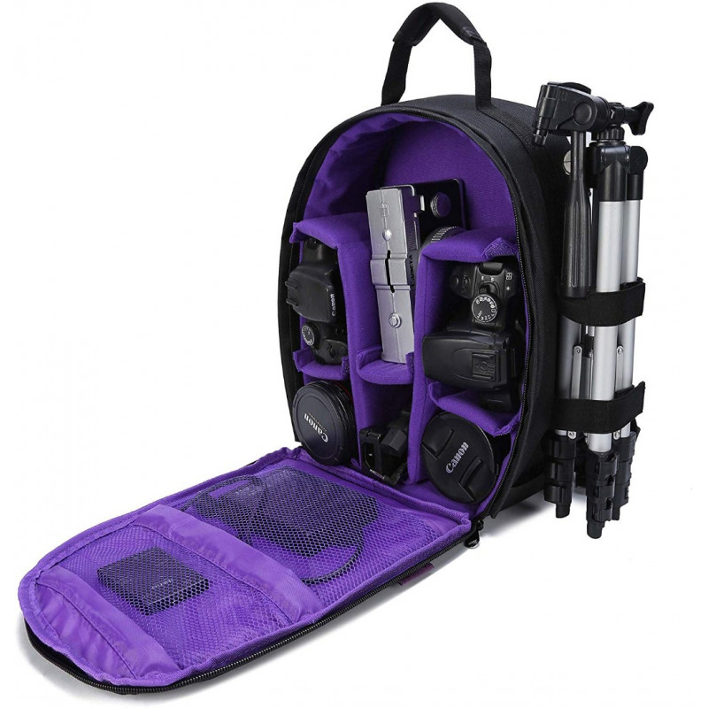 G-raphy Camera Backpack Bag - Medium (Purple) [NIG-D7]