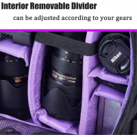 G-raphy Camera Backpack Bag - Medium (Purple) [NIG-D7]