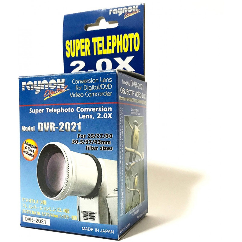 Raynox DVR-2021 - 27,30,30.5,37,43mm - 2x Telephoto Converter Lens