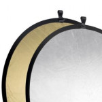 Leinox Foldable Reflector Silver/Gold, 107cm