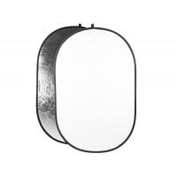 Leinox  Foldable Reflector silver/white, 100x150cm