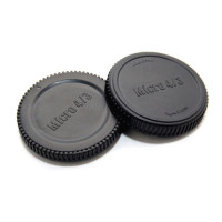 JJC L-R7 Rear Lens Cap and Body Cap for Micro 4/3 Camera mount