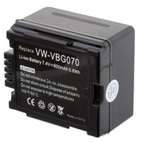 Replacement battery for Panasonic VW-VBG070