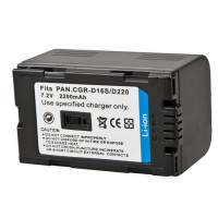Replacement battery for Panasonic CGR-D16S/D220