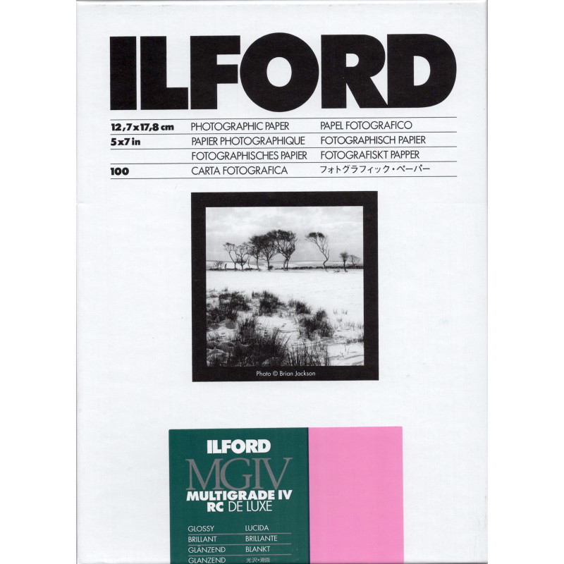 Ilford Multigrade IV RC Deluxe 13x18 100 Sheets Glossy Paper [HAR1769900]