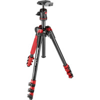 Manfrotto BeFree MKBFRA4R-BH Travel Photo Tripod Red