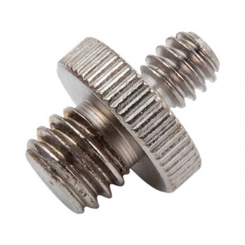1/4 inch Male to 3/8 inch Male Threaded Tripod Screw Adapter Tripod(Silver)  [CS008E]