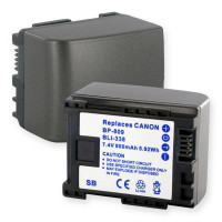Replacement battery for Canon BP-809