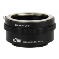 KiwiFotos Nikon G lens to Sony e mount body LMA-NK(G)_EM