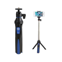 Benro BK10 2-in-1 Portable Selfie Stick with Mini Tripod (Blue)