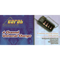Carat 4 Channel Universal Charger with Battery Tester [11330]