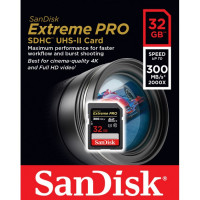SanDisk Extreme Pro SDHC 32GB 300MB/s UHS II [SDSDXPK-032G-GN4IN]