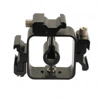 AccPro Triple Hot Shoe Mount Adapter Flash Light Stand Umbrella Holder Bracket [LS-16]