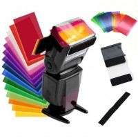 AccPro 12-Color Universal Speedlite Filters Kit [LS-30]