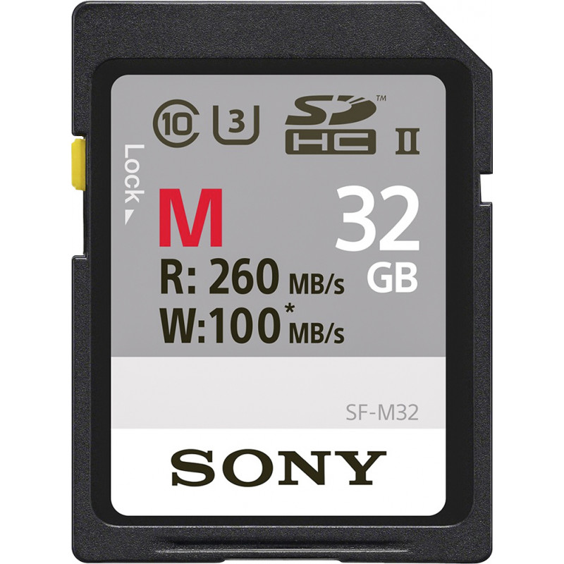 Sony SF-M32 Κάρτα μνήμης SDHC 32GB U3 260mb/100mb