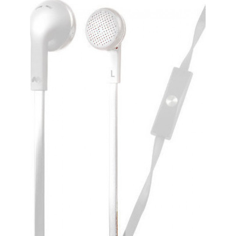 Meliconi MySound SpeakFlat Earphones with microphone White [0700542]