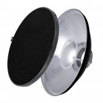 Queenie Beauty Dish Silver with Grid 42cm - Bowens mount