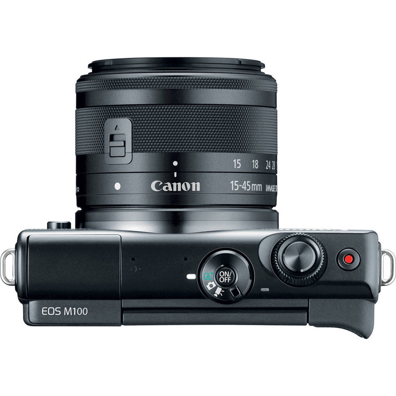Canon EOS M100 Kit + EF-M 15-45mm f/3.5-6.3 IS STM - Black