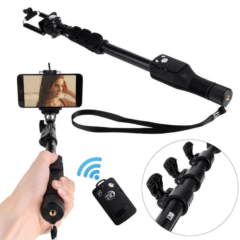 Yunteng YT-1288 Bluetooth Selfie Stick with Mobile Phone Tripod Mount