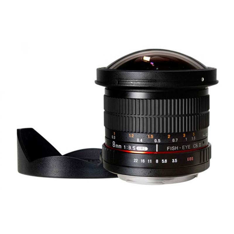 Samyang Lens 8mm f/3.5 CS II With Detachable Hood for Nikon (AE System)