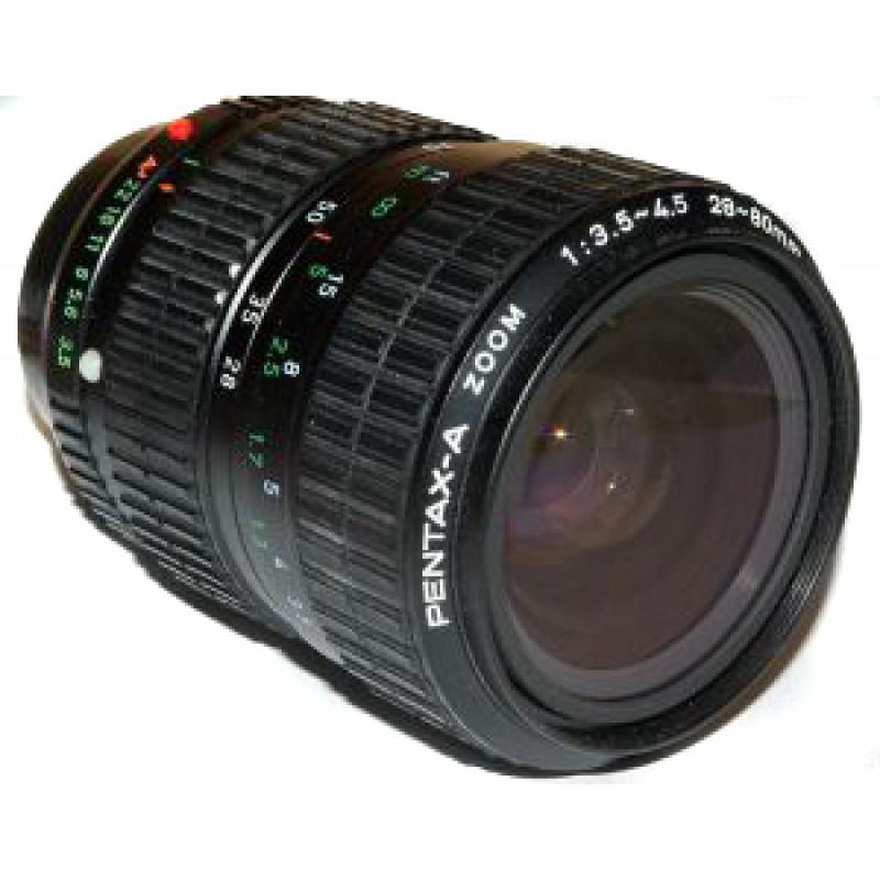 Pentax A 28-80mm f/3.5-4.5 black