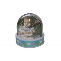 "Photo Globe ""Baby"" 6.5x6.2cm Blue"