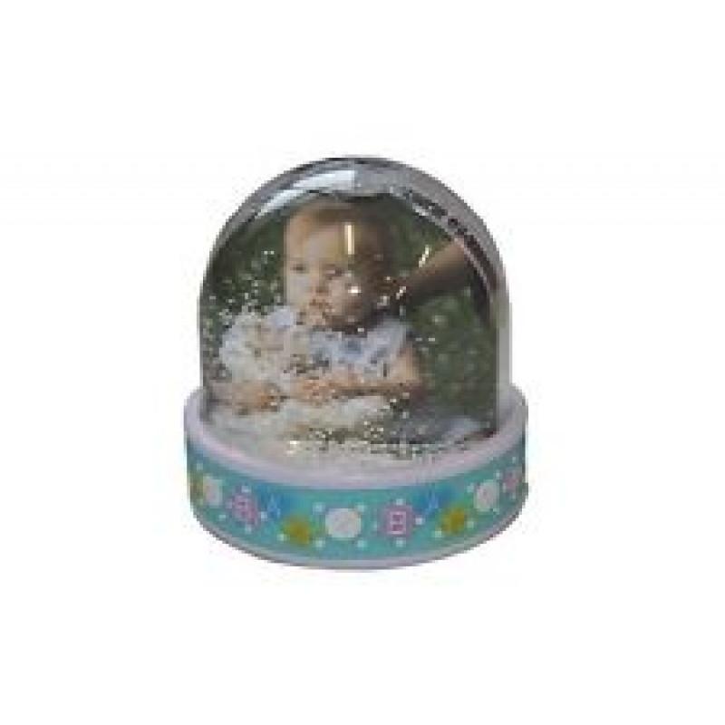 "Photo Globe ""Baby"" 6.5x6.2cm Blue"