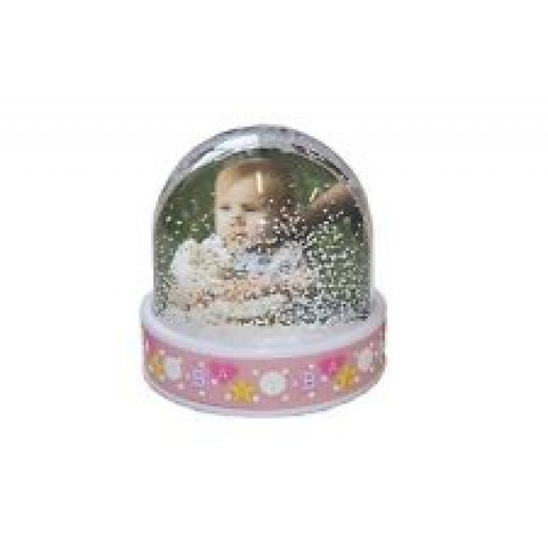 "Photo Globe ""Baby"" 6.5x6.2cm Pink"