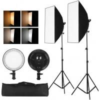 oem IRiSfot Bi-color Dimmable Kit LED φωτισμού με Softbox ( 3200-6400 ) [FX-YPD1K]